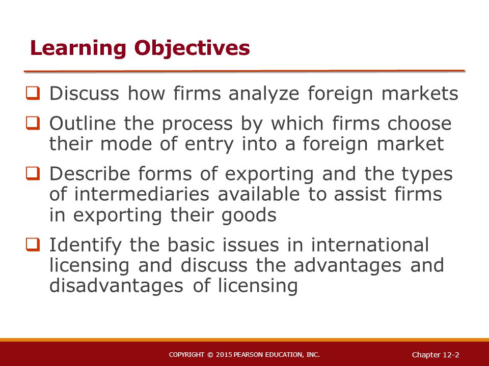 a discussion of the effective modes of entry for businesses Seven rules of international distribution  (for a discussion of  interest arise once entry is established a more effective solution is to.