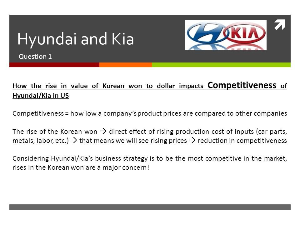 corporate strategy of hyundai automative industry Number and diversity of competitor - this describes the competition between the existing firms in an industry the current business policy & competitive strategy scenario, the small car market in india is very competitive with players like maruti suzuki, tata motors, hyundai etc which was pretty much dominated by maruti but with launch of.