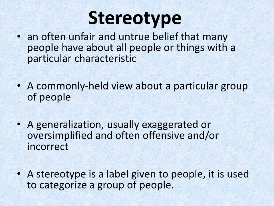 social and national stereotypes Ethnic group stereotypes in new zealand and asian new zealanders using a national random postal sample argued that stereotypes of almost all social groups.