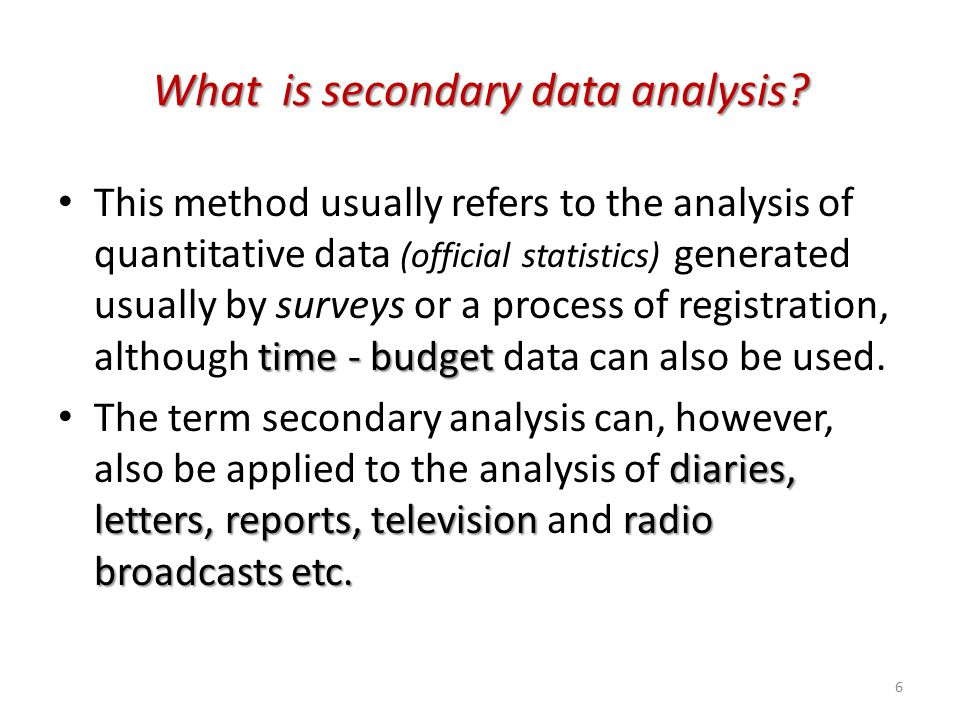 secondary data analysis I need help in analysing data using spss i m using both primary and secondary data primary data about firm enterprise risk managment is obtained through survey while secondary data about economic value added is obtained through datastream i want assistance in integrating primary and secondary.
