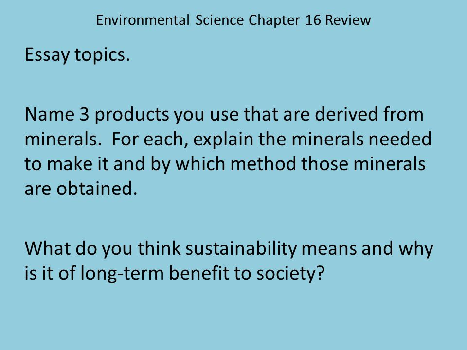 environmental science chapter review ppt  environmental science chapter 16 review