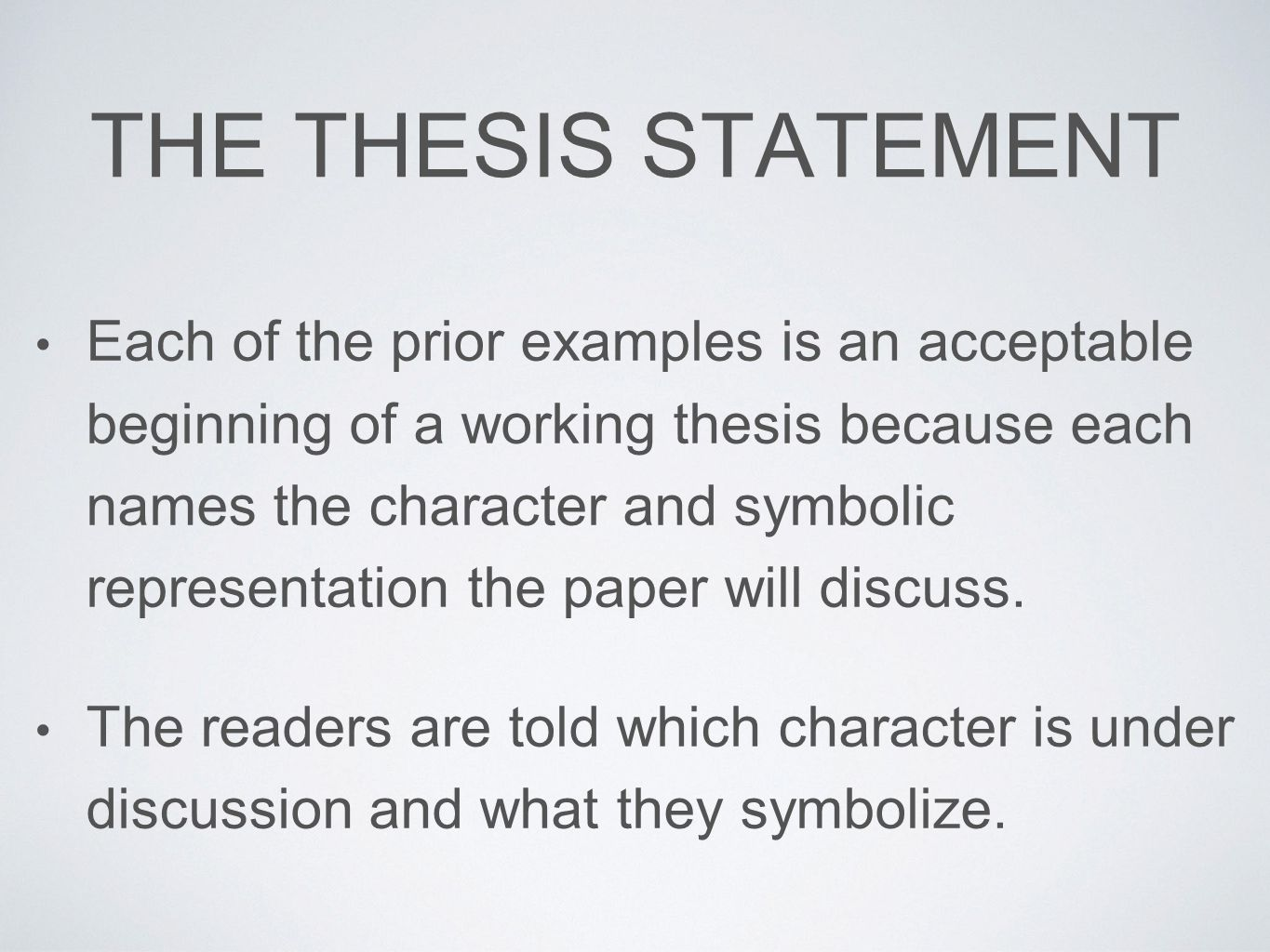 thesis statement discussion paper Get an answer for 'what is a good thesis statement for abortion i just need a complex sentence to get me started although i have thought of some already, they are.