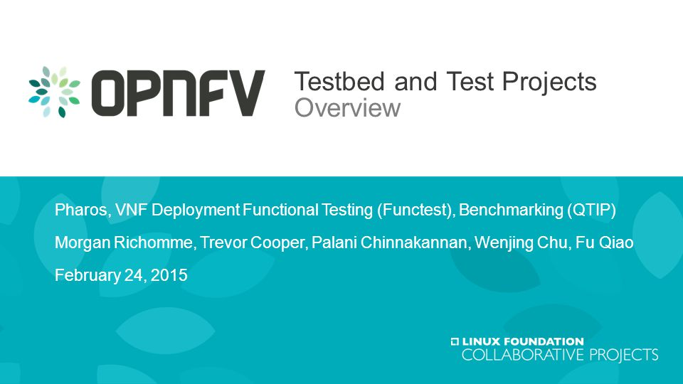 Testbed and test projects overview ppt download testbed and test projects overview malvernweather Images