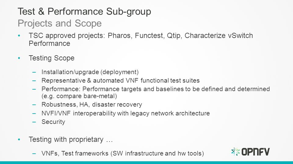 Testbed and test projects overview ppt download 3 test malvernweather Images