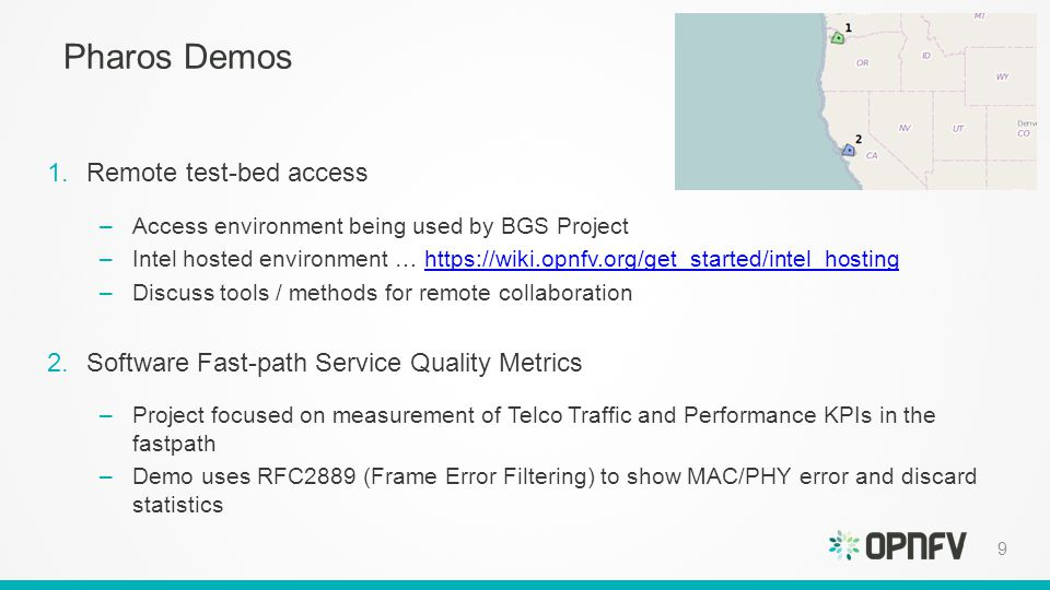 Testbed and test projects overview ppt download 9 pharos malvernweather Images