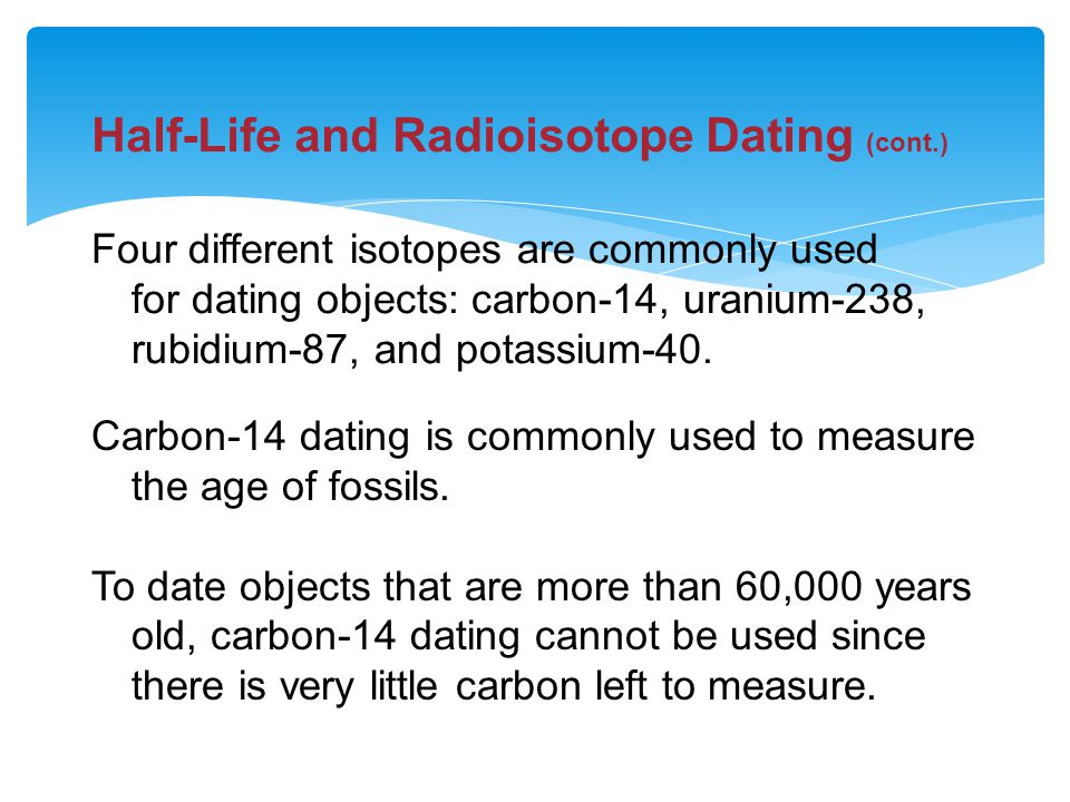 Isotopes Used In Hookup Old Objects