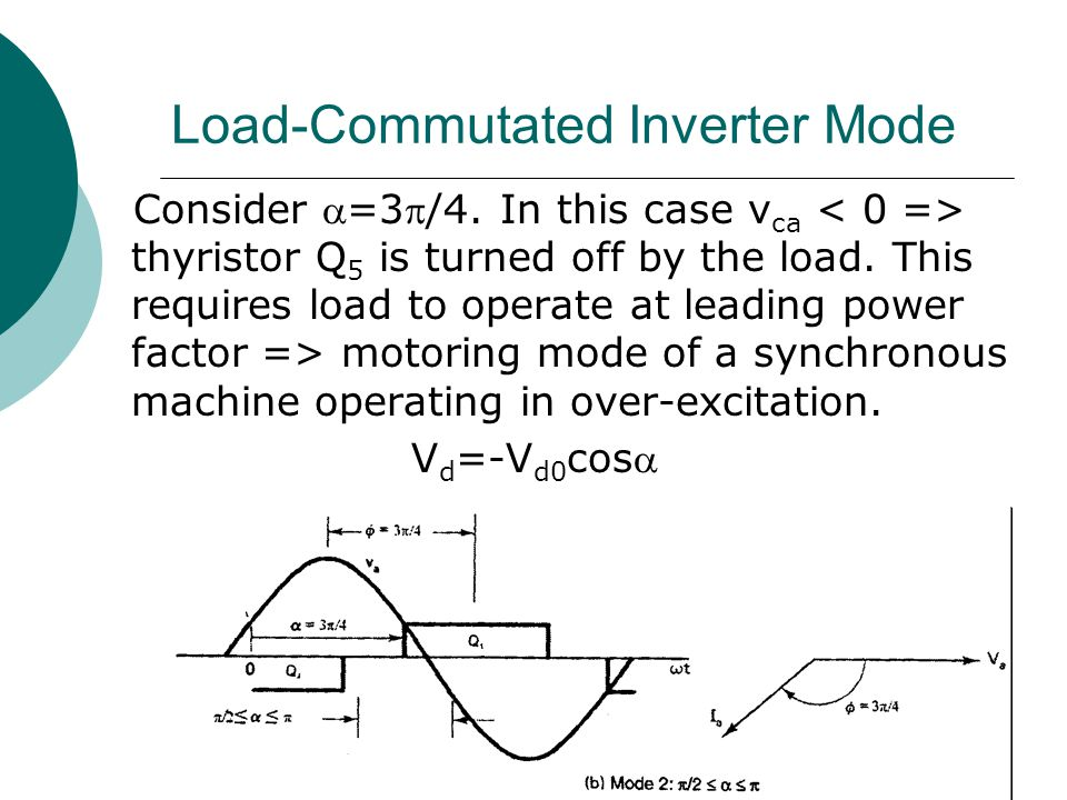 Load-Commutated Inverter Mode