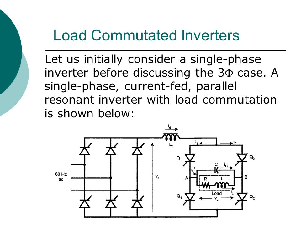 Load Commutated Inverters