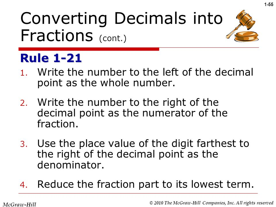 write as decimals