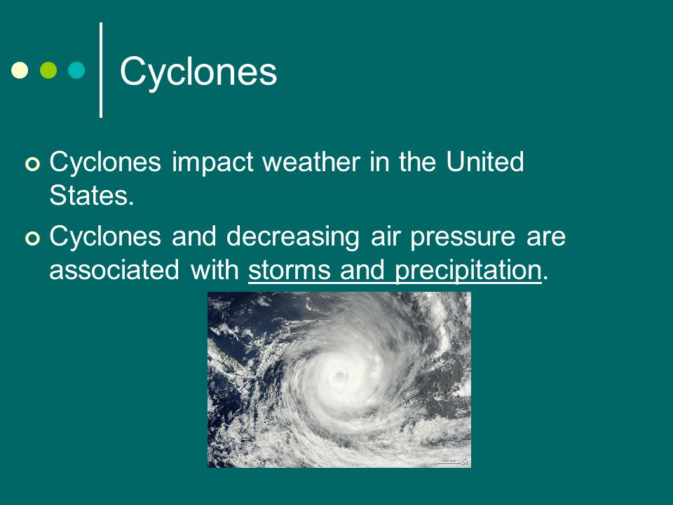 Cyclones Cyclones impact weather in the United States.