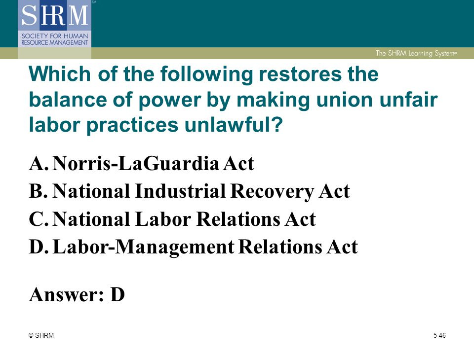 Module 5: Employee and Labor Relations 22% PHR (49 ...