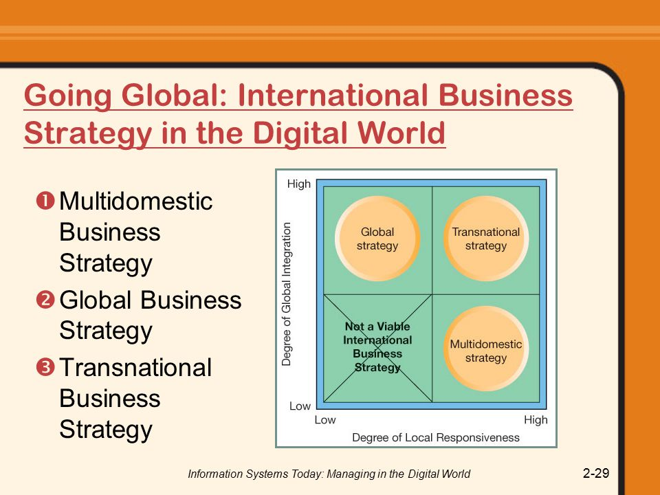 Going Global: International Business Strategy in the Digital World