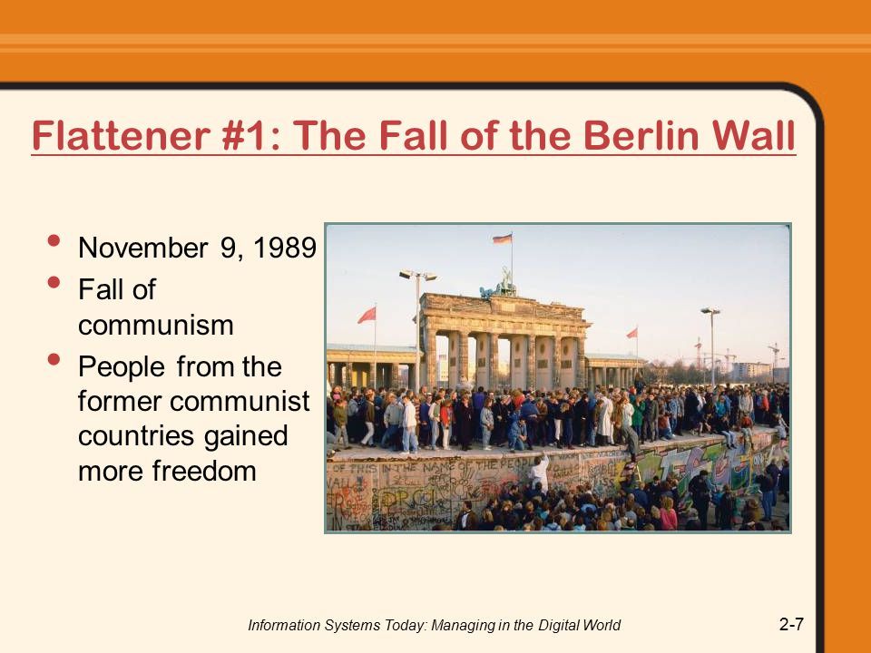 Flattener #1: The Fall of the Berlin Wall