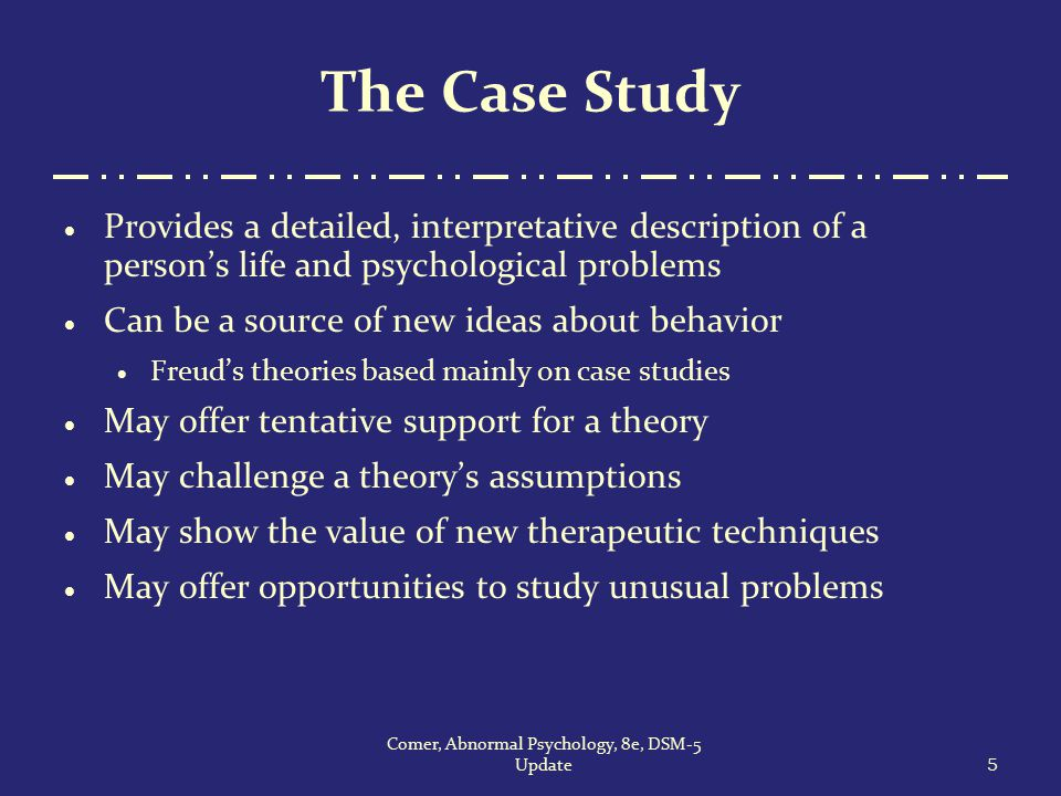 write case study psychology Essays - largest database of quality sample essays and research papers on psychology case study.