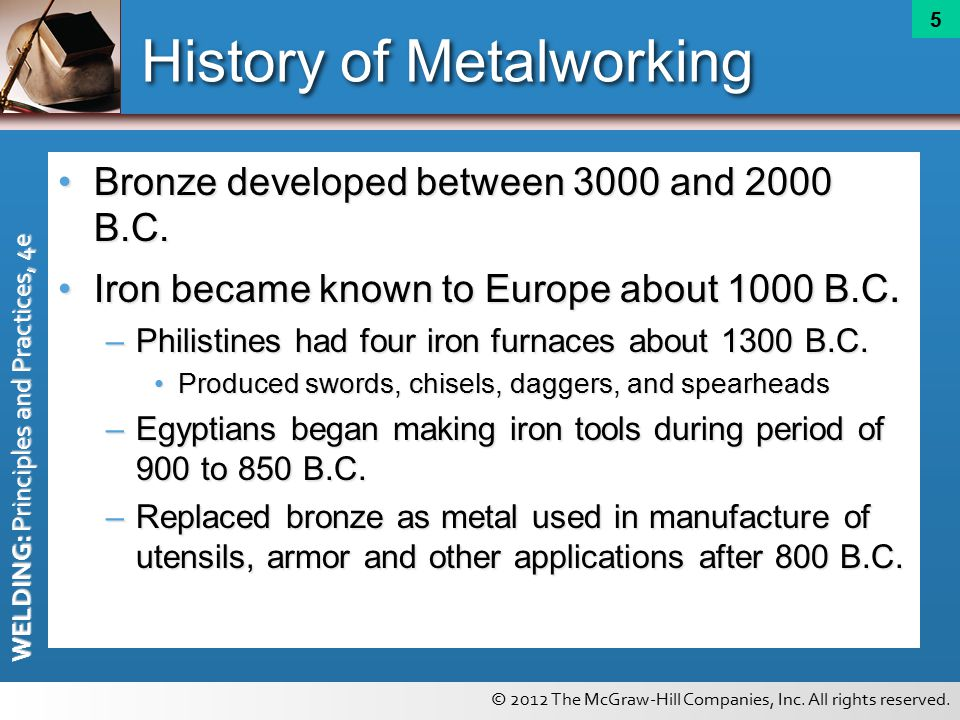 history of metalworking The history of zinc - long before the discovery of zinc as a metal, zinc ore was already being used to produce the copper-zinc alloy brass as well as zinc.