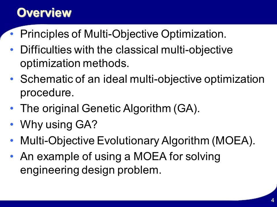 Evolutionary Algorithms For Solving Multi-Objective Problems