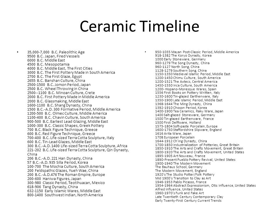 The History Of Ceramic Pottery Ppt Video Online Download