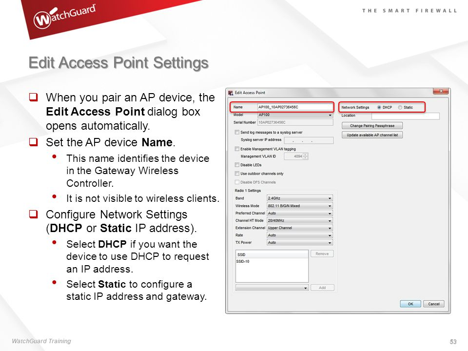 Point to point vpn watchguard