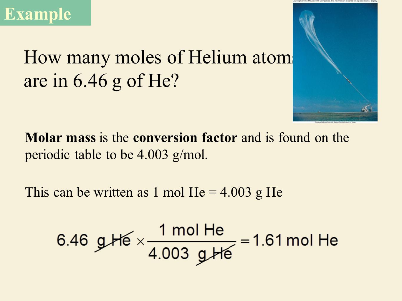 Mass relationships in chemical reactions ppt download how many moles of helium atoms are in 646 g of he gamestrikefo Gallery