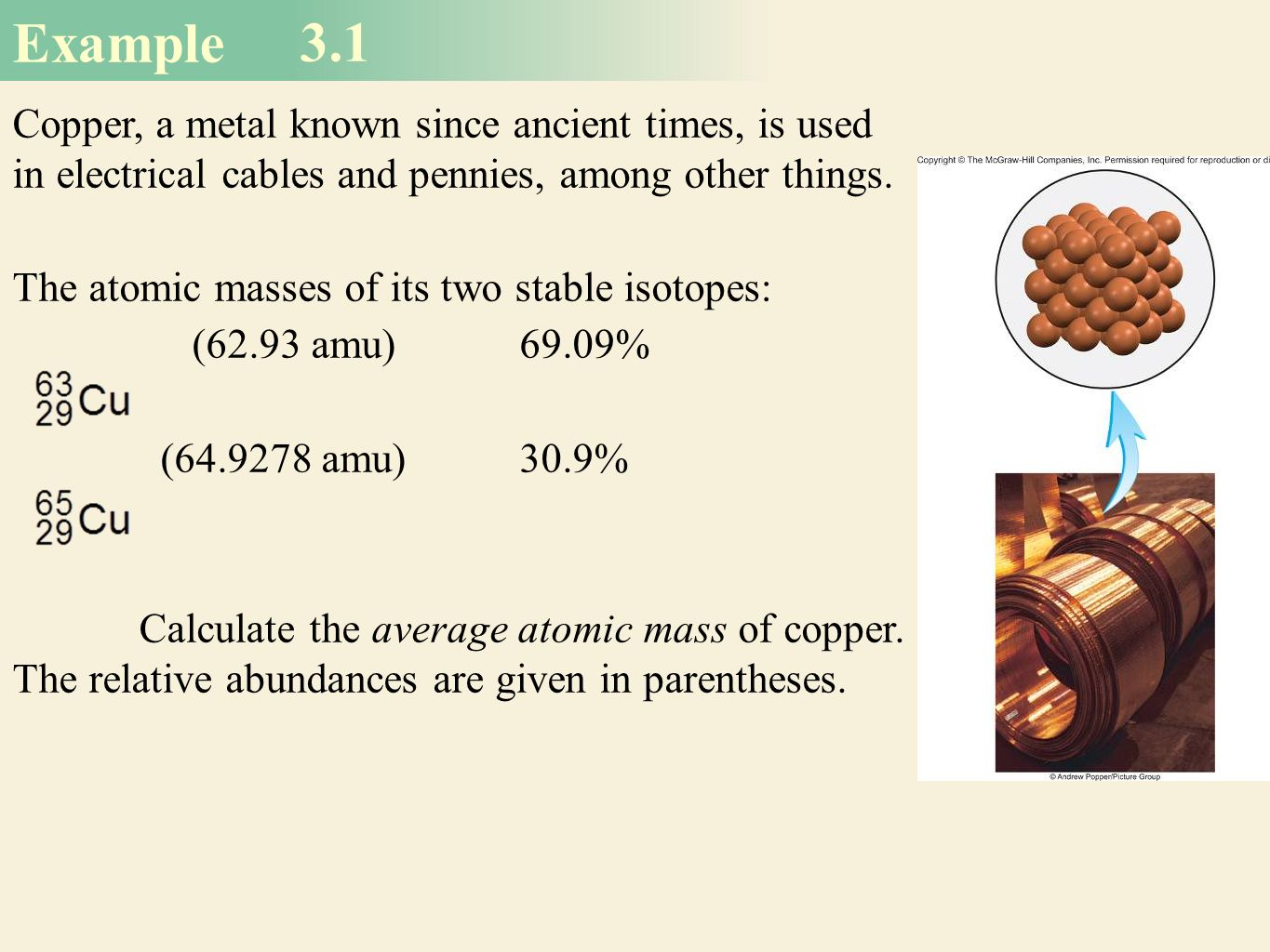 Mass relationships in chemical reactions ppt download average atomic mass calculation 6 example urtaz Choice Image