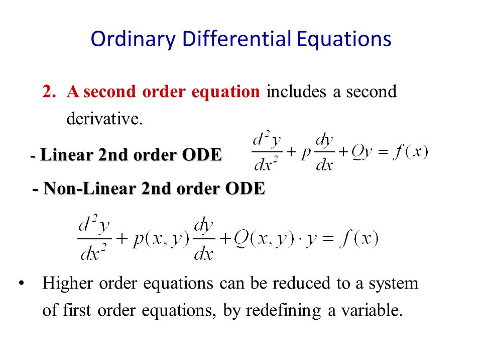 ordinary differential equations Differential equations and dynamical systems / lawrence perko-3rd ed  ordinary differential equations, a topic already familiar to the student who.