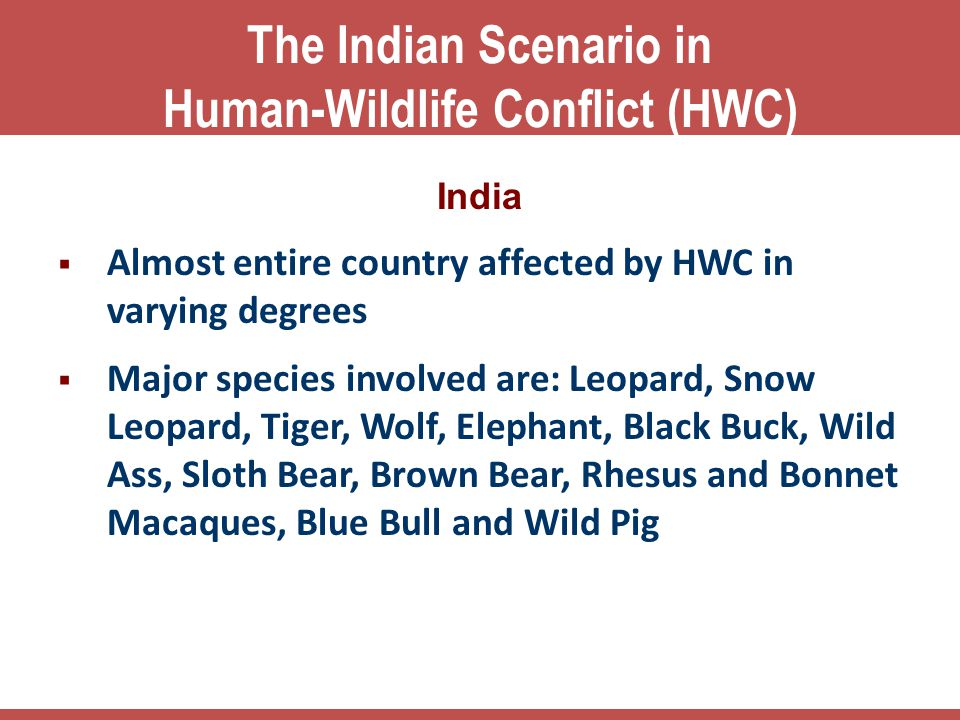 The Indian Scenario in Human-Wildlife Conflict (HWC)
