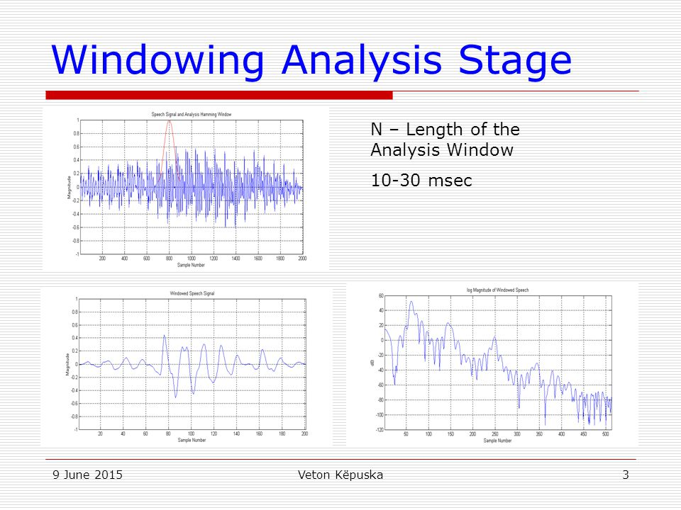 Windowing Analysis Stage
