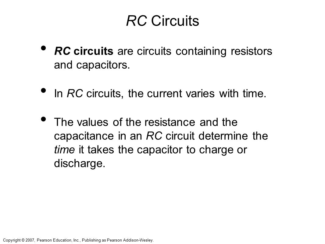 RC Circuits RC circuits are circuits containing resistors and capacitors. In RC circuits, the current varies with time.