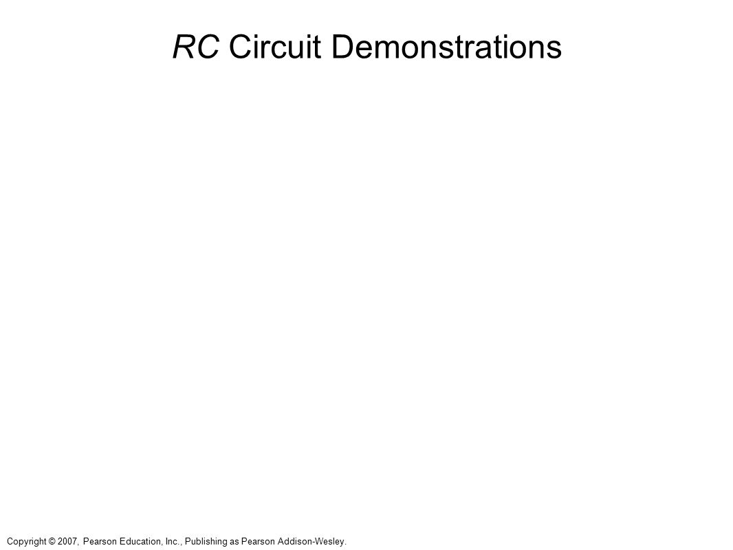 RC Circuit Demonstrations