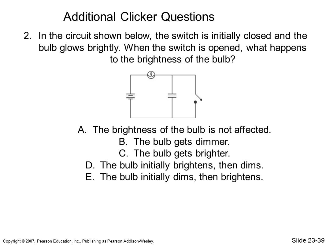 Additional Clicker Questions