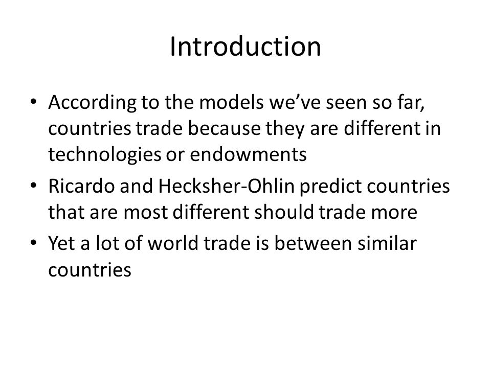 an introduction to the importance of nations trading