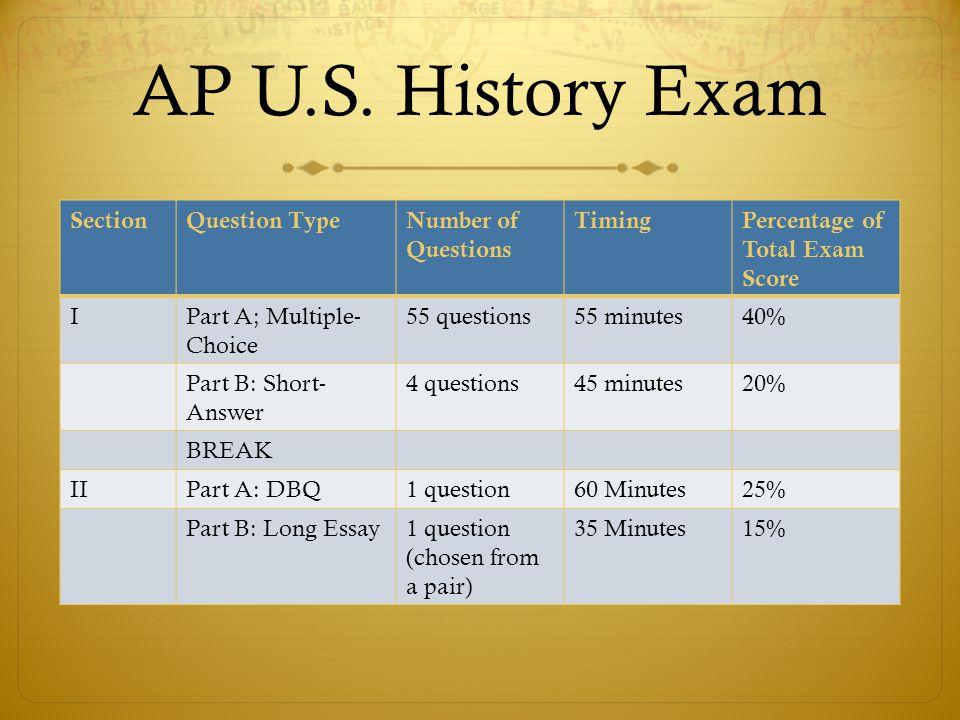 Ap us history essays