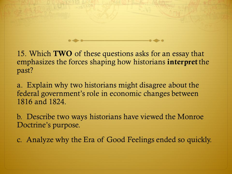 writing in ap u s history ppt video online  which two of these questions asks for an essay that emphasizes the forces shaping