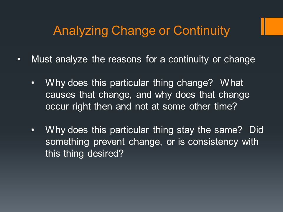 how to write a continuity and change over time essay
