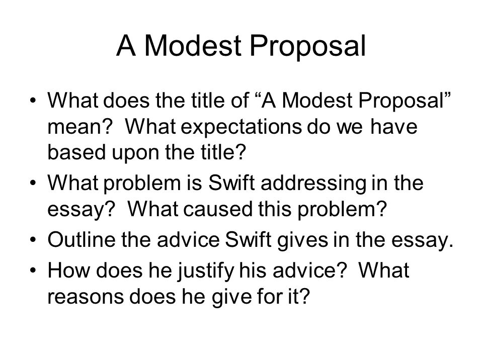 a modest proposal commmentary