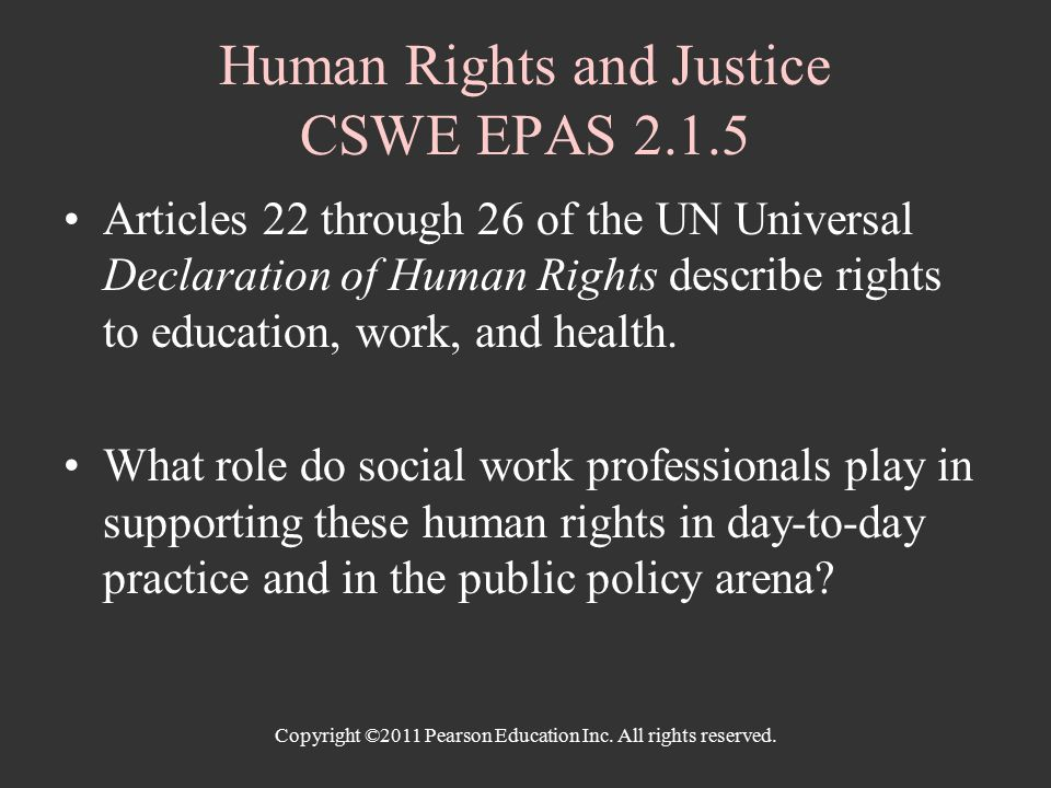 social justice and the role of social work 2010/11/05 much of social work practice is affected by the law and many social workers can expect some involvement with the legal/judicial system during the course of their work this paper reviews social workers' historical.