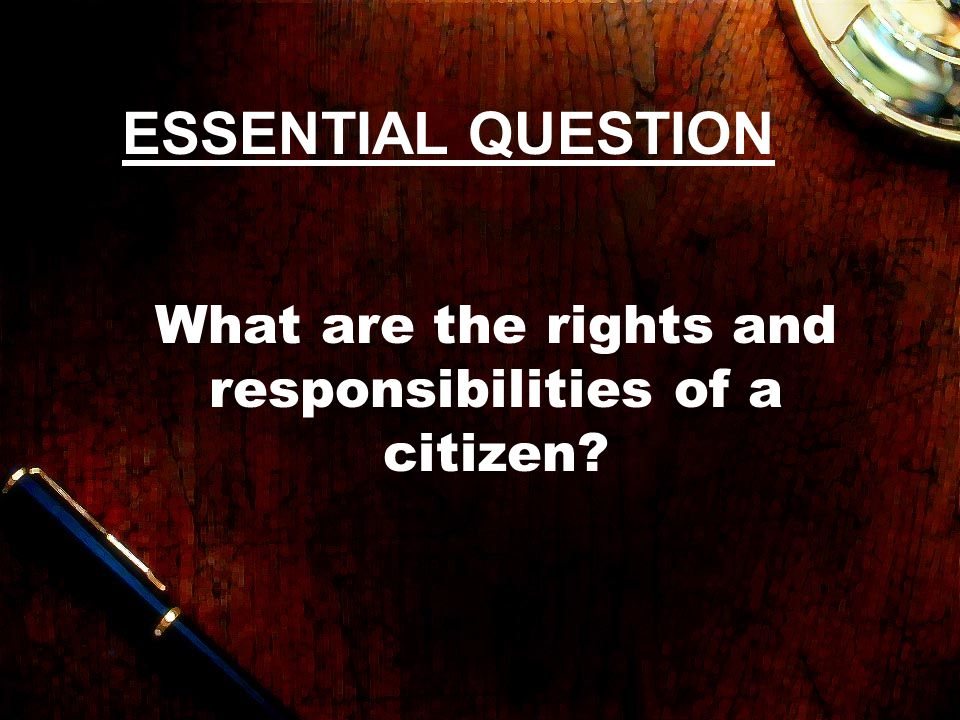 essay on rights and responsibilities