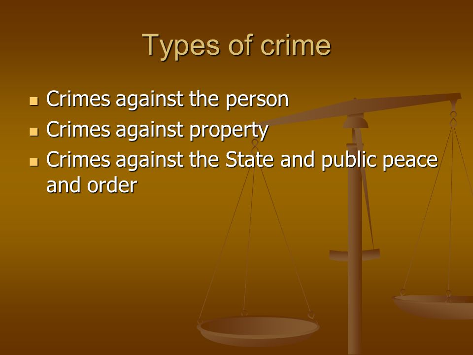 crime to person property or public Have you or someone close to you been charged with a property crime in  charlotte, north carolina contact a criminal defense attorney at.