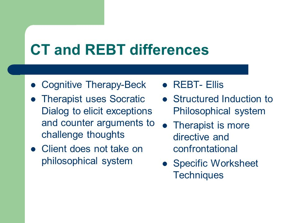 CT and REBT differences
