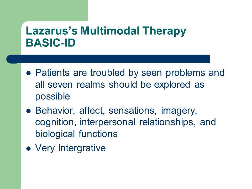 Lazarus's Multimodal Therapy BASIC-ID