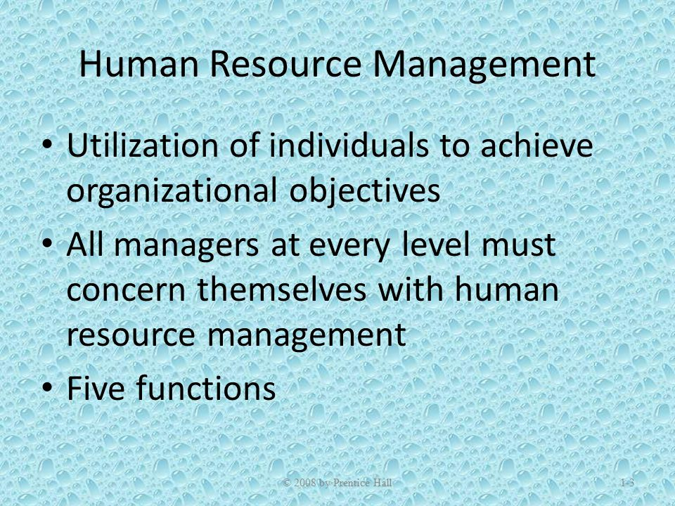 functions of human resource management in an organization pdf