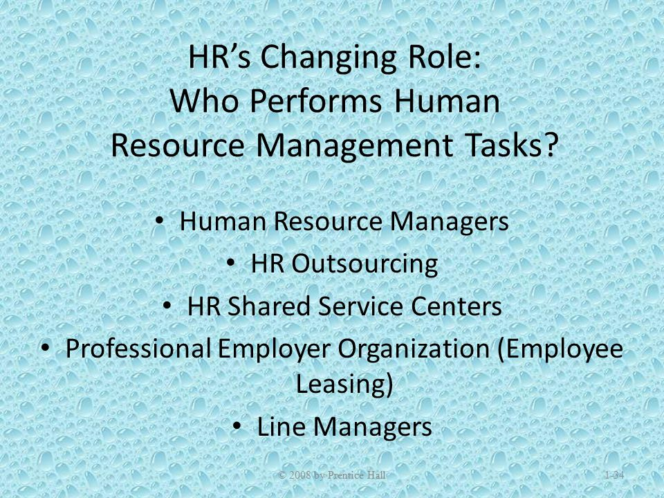changing role of human resource management Nature of human resource management • human resource (hr) management  changing roles of hr management note: example percentages are based on various surveys .