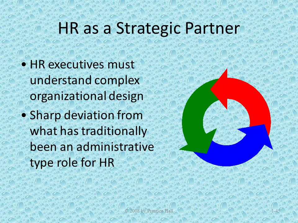 hr as a strategic partner Differentiating yourself as a strategic hr partner: a case study  a strategic  partner to the business and improve employee perceptions of her.