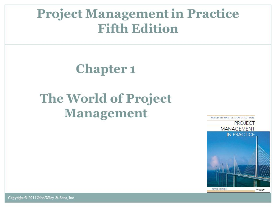 Chapter 1 The World of Project Management