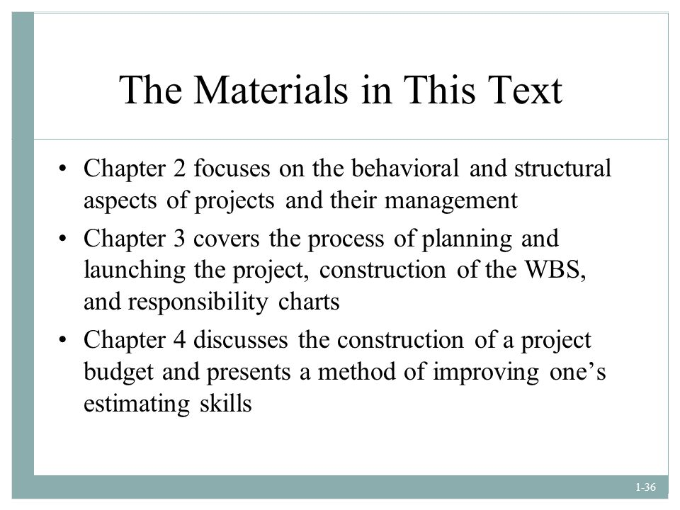 The Materials in This Text
