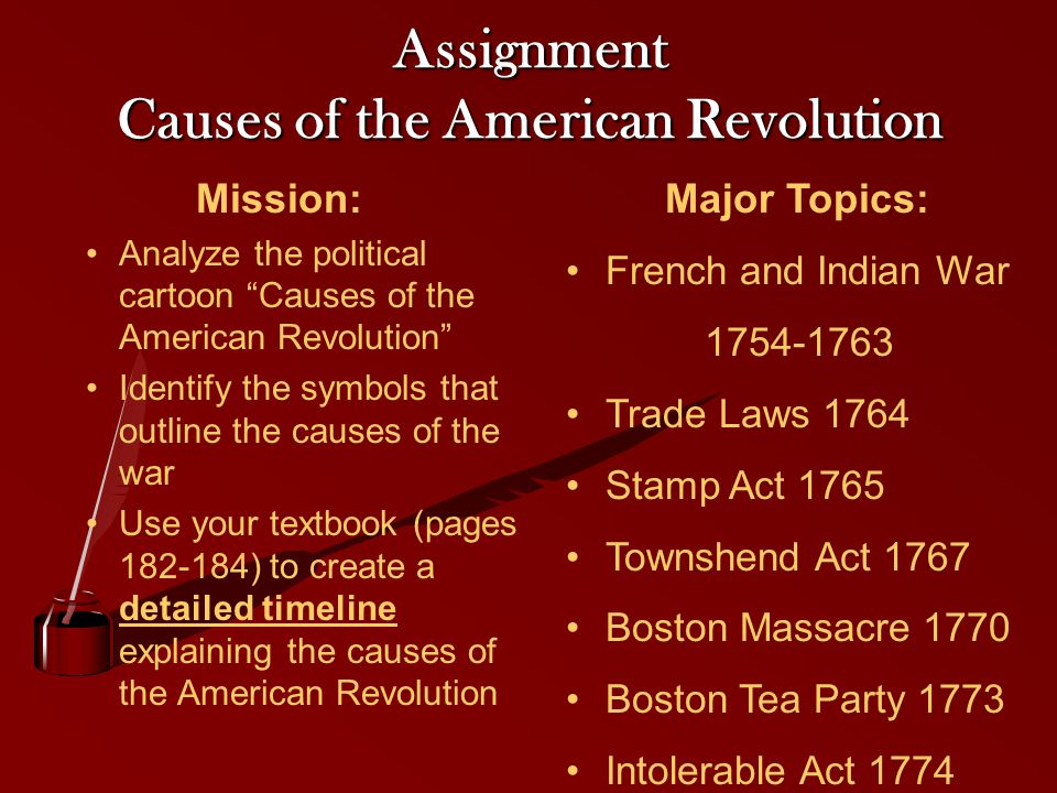 causes of american war of independence essays Photo essays shop bazaar truthdig merchandise  in addition to being a war for independence, the american revolution was, and at the time often was referred to as, an american civil war.