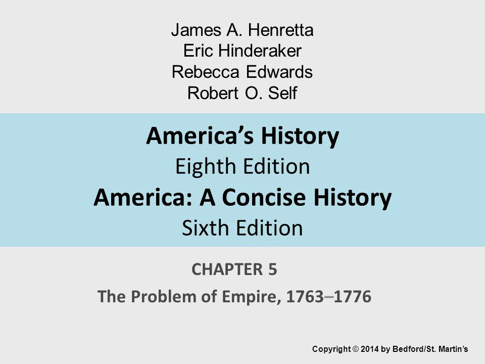 CHAPTER 5 The Problem Of Empire 1763 1776