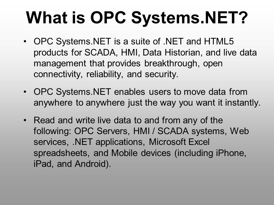 What is OPC Systems.NET