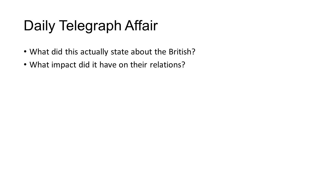How did anglo german relations affect europe ppt video online download daily telegraph affair falaconquin