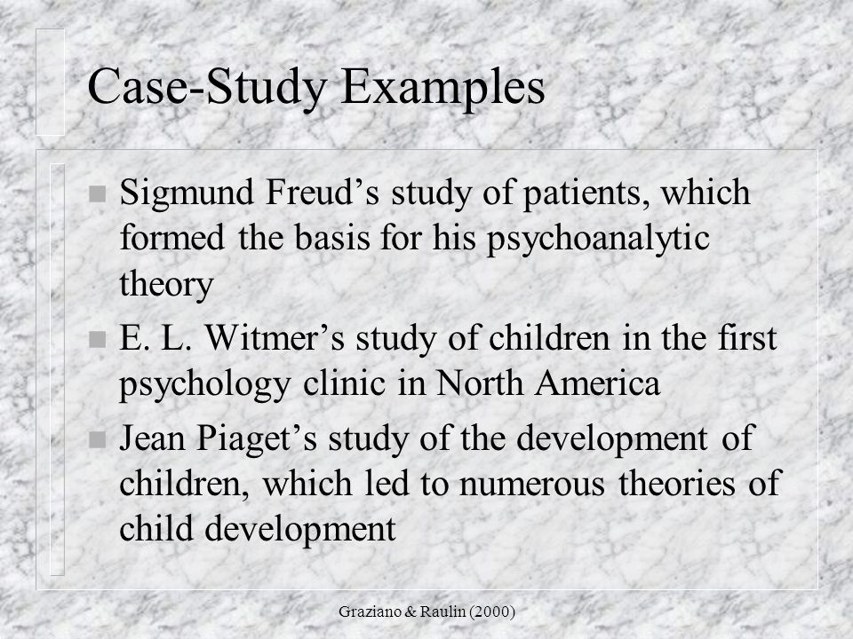 case study of personality theories The psychology case study is one of the oldest research showed a neurological basis for personality and behavior more recent studies in psychology look into these as a female gave dr money a chance to put his theory to the test when a case study is.